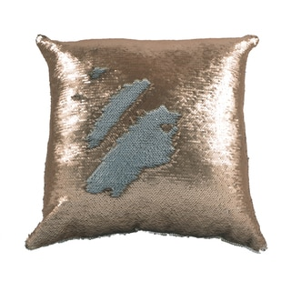 Mermaid Gold/Ivory 17X17 KE Down Throw Pillow