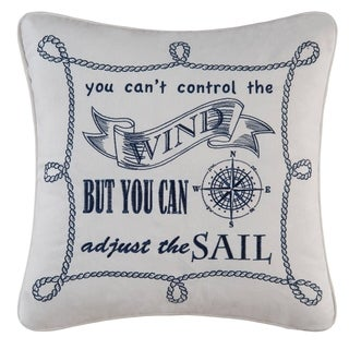 Can't Control The Wind  Embroidered Throw Pillow