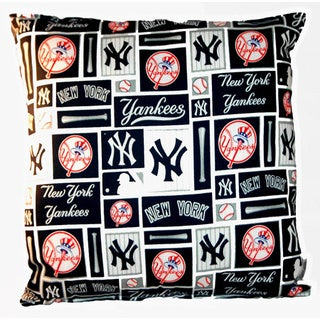 Lillowz New York Yankees Reversible Square Throw Pillow