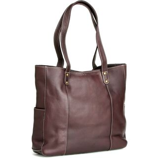 LeDonne Leather Double Strap Rivet Tote Bag