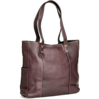 LeDonne Leather Double Strap Rivet Tote Bag|https://ak1.ostkcdn.com/images/products/11651472/P18582740.jpg?impolicy=medium