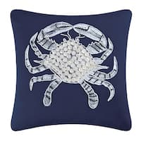 Crab Shell Embellished Pillow