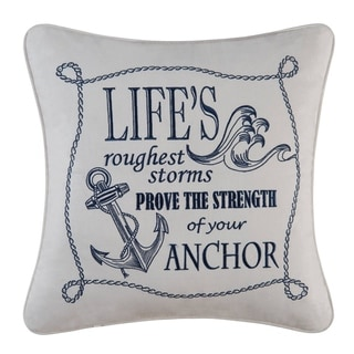 Life's Roughest Storms Embroidered Throw Pillow