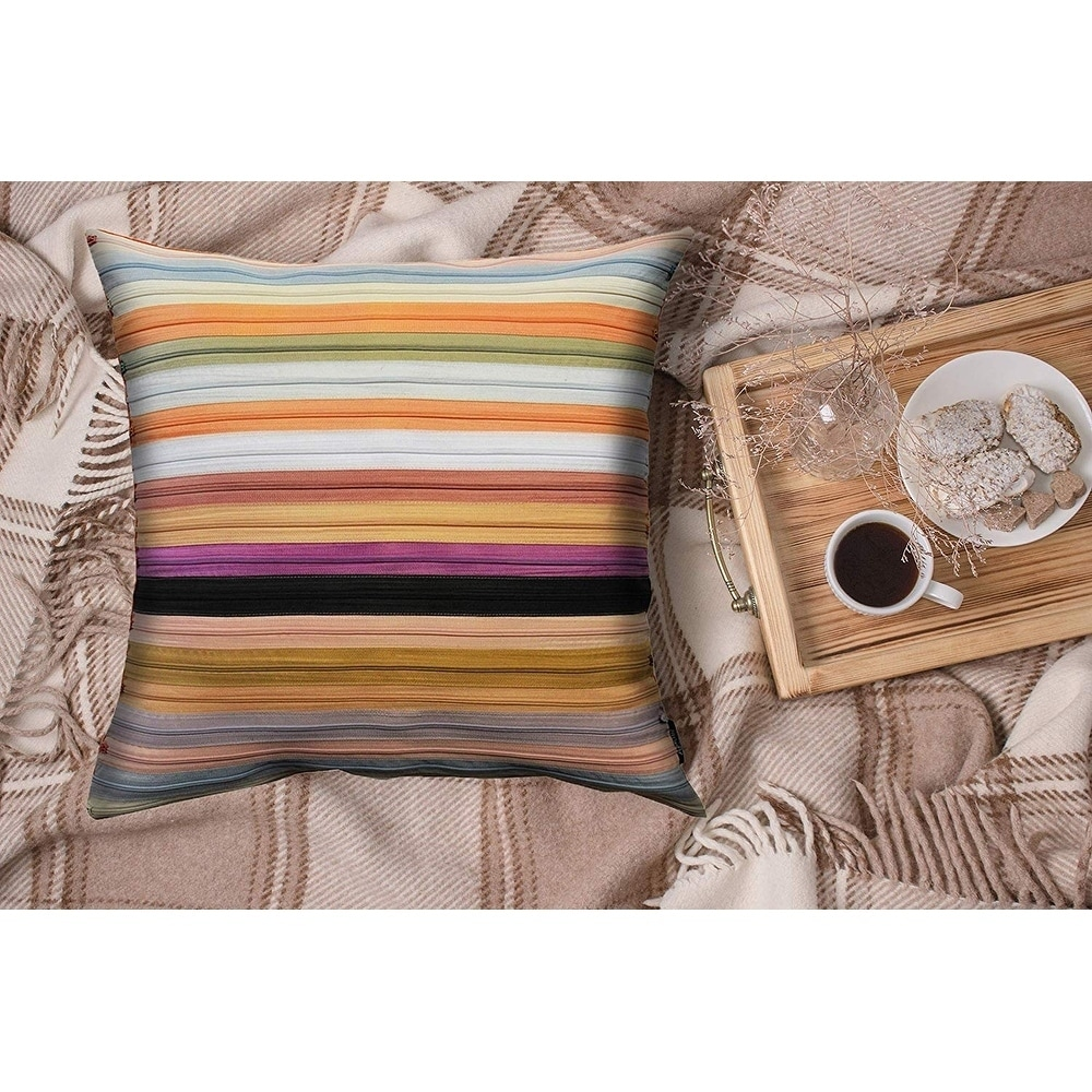 Tyne Square Multi Colored Zipper Throw Pillow Overstock 11651504