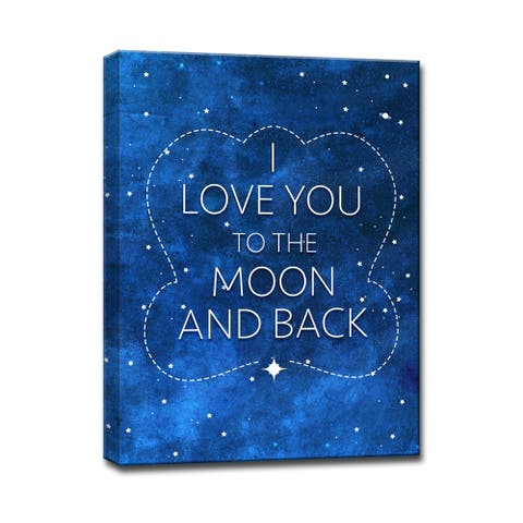 I Love you to the Moon & Back II' Inspirational Wrapped Canvas Wall Art