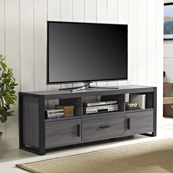 shop angelo home 60 inch tv stand console on sale free. Black Bedroom Furniture Sets. Home Design Ideas