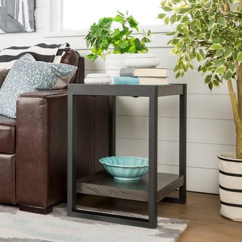 Carbon Loft Hamilton 24-inch Side Table - 24 x 16 x 24h