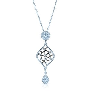 14k White Gold 3/4ct TDW Diamond Drop Pendant (H-I, SI1-SI2)