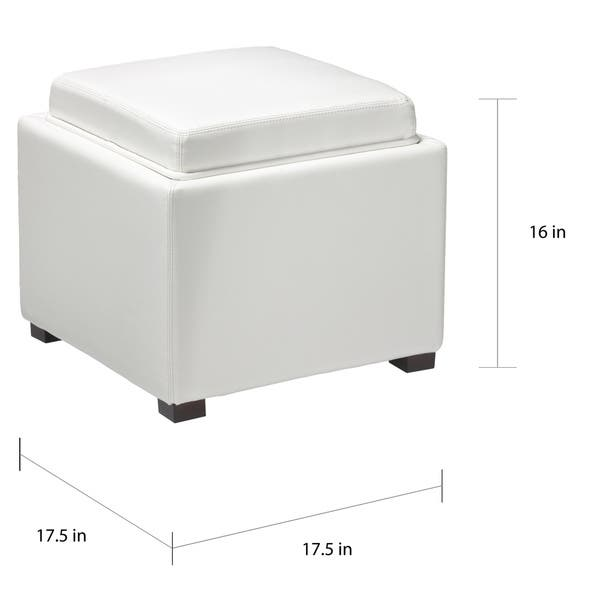 Wondrous Shop Cortesi Home Mavi Snow White Storage Tray Ottoman In Gmtry Best Dining Table And Chair Ideas Images Gmtryco