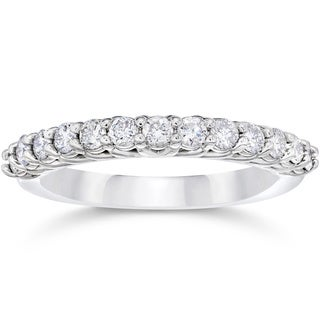 10k White Gold 5/8ct TDW Diamond Wedding Ring (I-J,I2-I3)