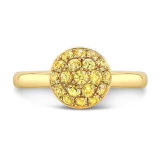 18k Yellow Gold 7/8ct TGW Yellow Sapphire Stackable Ring