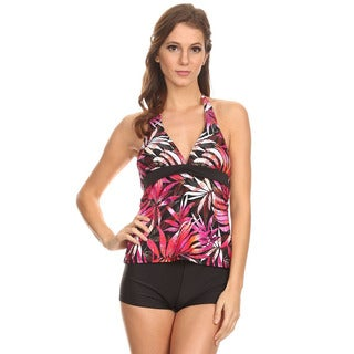 Dippin' Daisy's Orange Leaves Halter Tankini with Boyshorts
