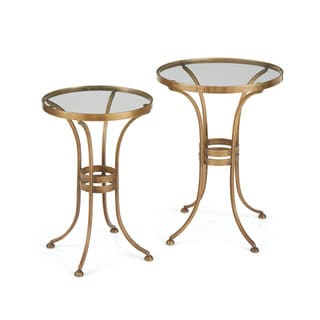 Hip Vintage Gold and Glass Gaffney Nesting Tables