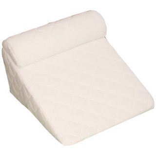 Deluxe Comfort Cover For Bed Wedge Pillow Set - 383 Thread Count - Pillow Cover, White