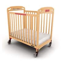 Child Craft Safe Haven Professional Series Natural-finish Wicker Evacuation Compact Crib