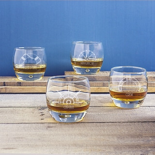 10.75 oz Nautical Heavy Based Whiskey Glasses