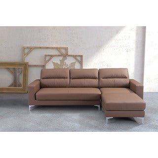 Versa Brown Leatherette Sectional