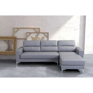 Versa Gray Leatherette Sectional