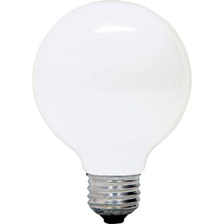 GE Lighting 60100 29 Watt G25 Clear Dimmable Energy Efficient Bulb