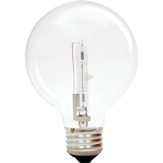 GE Lighting 60076 43 Watt G25 Clear Dimmable Energy Efficient Bulb