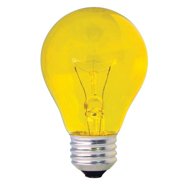 Shop Ge Lighting 49728 25 Watt Yellow Crystal Color Party