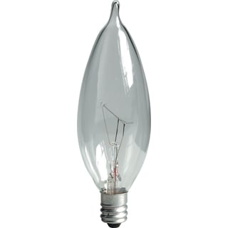 GE Lighting 66107 60 Watt Clear Candleabra Incandescent Light Bulb