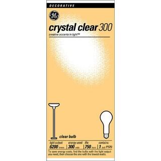 GE Lighting 73788 300 Watt 130 Volt Clear Standard Incandescent Light Bulbs
