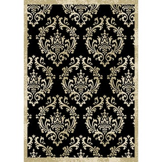 Home Dynamix Optimum Collection Contemporary Black Area Rug  (7'8X10'4)