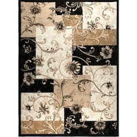 Home Dynamix Optimum Collection Black Polypropylene Machine Made Area Rug - 7'8 X 10'4