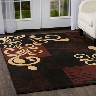 Home Dynamix Premium Collection Contemporary Ebony Area Rug  (7'8X10'7)