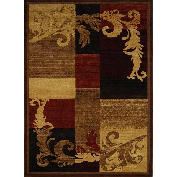 "Home Dynamix Catalina Collection Contemporary Brown-Red Area Rug (5'3"" x 7'2"")"