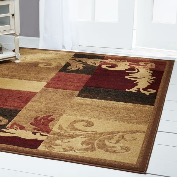 """Home Dynamix Catalina Collection Contemporary Brown-Red Area Rug - 5'3"""" x 7'2"""""""