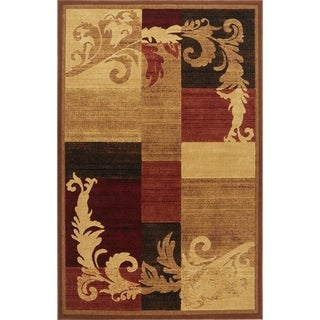 "Home Dynamix Catalina Collection Contemporary Brown-Red Area Rug - 5'3"" x 7'2"""