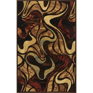 "Home Dynamix Catalina Collection Contemporary Black Area Rug  (5'3X7'2"")"