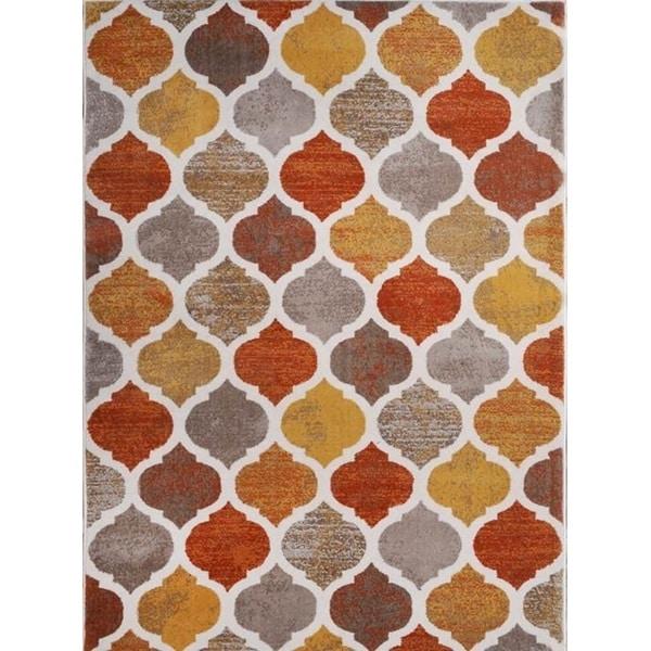 Home Dynamix Tremont Collection Contemporary Beige Orange Area Rug (5u0026#x27;2