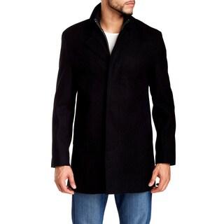 Cole Haan Black Wool Topper Coat 561