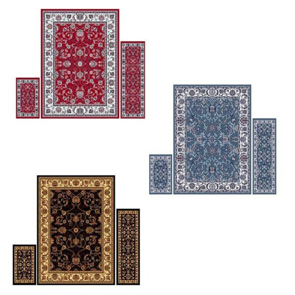 "Home Dynamix Ariana Collection Traditional 3-Piece Area Rug (4'11""x6'11"", 1'8""x4'11"", 1'8""x2'8"") - 5' x 7'"
