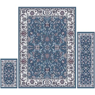 Home Dynamix Ariana Collection Traditional 3 Piece Area Rug 4 11 X6