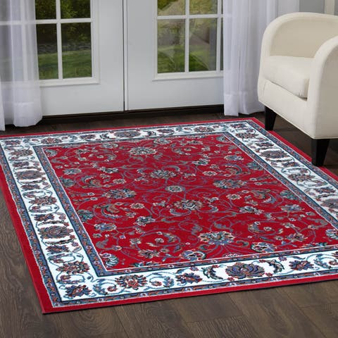 """Home Dynamix Ariana Collection Traditional 3-Piece Area Rug (4'11""""x6'11"""", 1'8""""x4'11"""", 1'8""""x2'8"""") - 5' x 7'"""