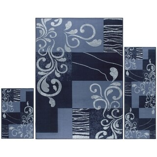 """Home Dynamix Ariana Collection Traditional 3-Piece Area Rug (4'11""""x6'11"""", 1'8""""x4'11"""", 1'8""""x2'8"""") - 5' x 7' (2 options available)"""