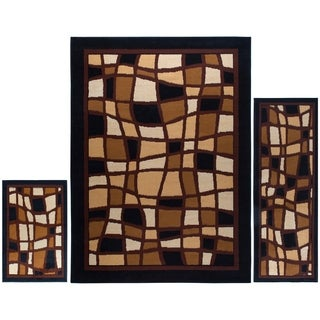 """Home Dynamix Ariana Collection Traditional 3-Piece Area Rug (4'11""""x6'11"""", 1'8""""x4'11"""", 1'8""""x2'8"""")"""