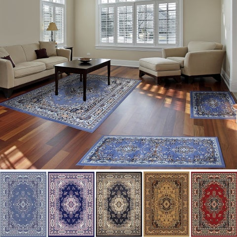 """Home Dynamix Ariana Collection Traditional 3-Piece Area Rug (4'11""""x6'11"""" 1'8""""x4'11"""" 1'8""""x2'8"""")"""