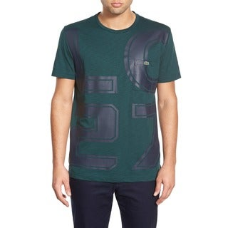 "Lacoste ""LC27"" Green Crewneck Graphic T-Shirt"
