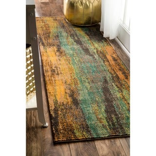 nuLOOM Modern Abstract Painting Multi Runner Rug (2'6 x 8')