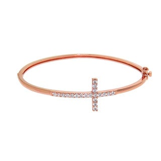 Eternally Haute Pave Cross Bangle