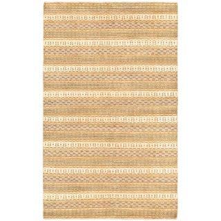 Ecarpetgallery Hand-knotted Finest Ziegler Chobi Beige and Brown Wool Rug (5' x 8')
