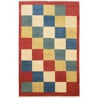 Ecarpetgallery Hand-knotted Finest Ziegler Chobi Red Wool Rug - 5'4 x 8'5