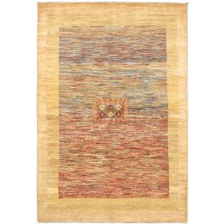 Ecarpetgallery Hand-knotted Finest Ziegler Chobi Yellow Wool Rug (5'7 x 8'3)