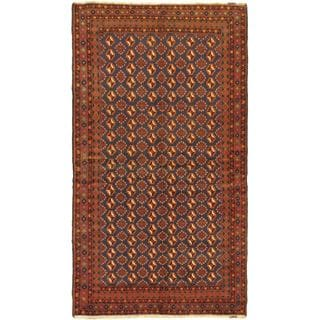 Ecarpetgallery Hand-knotted Rizbaft Red Wool Rug (5'2 x 9'3)