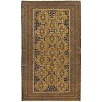 Ecarpetgallery Hand-knotted Rizbaft Brown Wool Rug (5'8 x 9'7)
